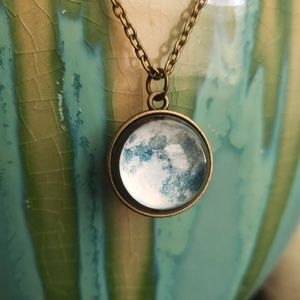 Double Sided Full Moon Necklace